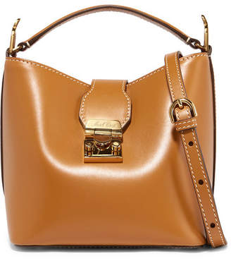 30c11e5155 Mark Cross Murphy Mini Leather Bucket Bag - Camel