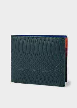 Paul Smith No.9 - Dark Green Leather Billfold Wallet With Multi-Coloured Interior
