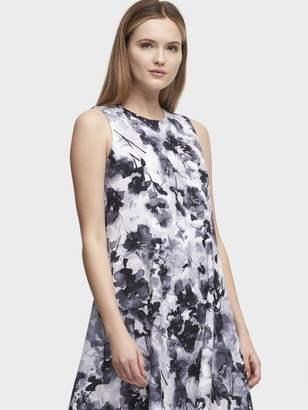 DKNY Floral Trapeze Sleeveless Dress