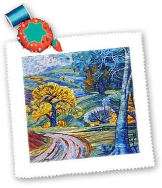Mural 3dRose qs_109246_4 Florene Decorative - Glass Tile Art - Quilt Squares