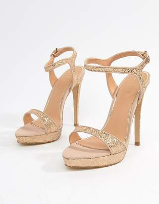 Lipsy Glitter Barely There Heeled Sandal