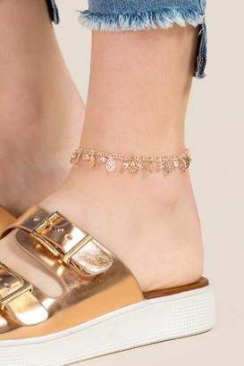 francesca's Fawn Charm Anklet in Rose Gold - Rose/Gold