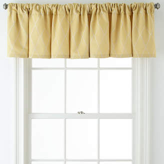 JCPenney JCP HOME HomeTM Hamilton Rod-Pocket/Back-Tab Tailored Valance