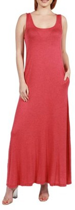 24/7 Comfort Apparel Women's Marion Sleeveless Tank Maxi Dress