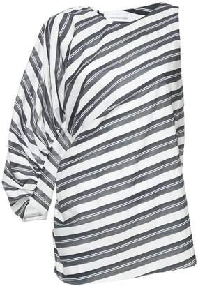 CHRISTOPHER ESBER one sleeve striped blouse