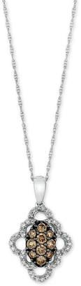 LeVian Le Vian Chocolatier Diamond Pendant Necklace (1/2 ct. t.w.) in 14k White Gold