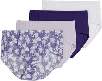 Jockey Supersoft Cool 4-Pack Brief Cut Panty Set