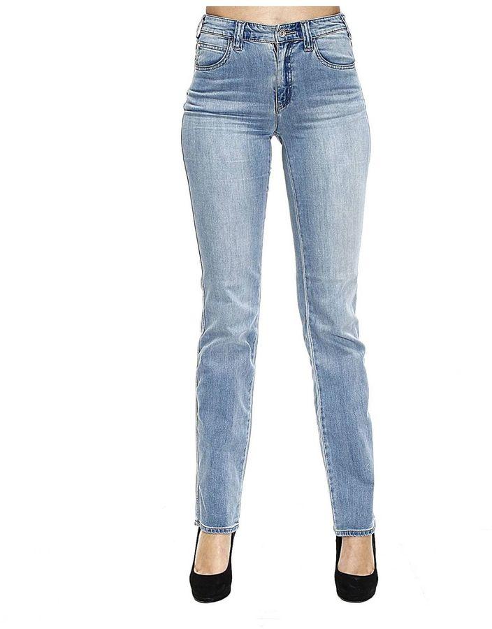 Armani JeansJeans Jeans Denim Waist High Gamba Dritta Stretch