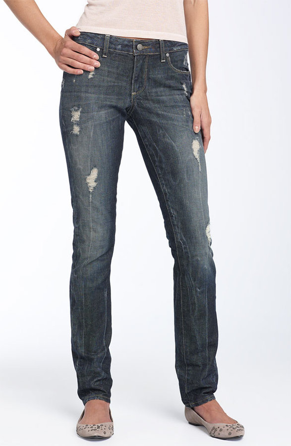 Paige Premium Denim 'Skyline Drive 12' Skinny Jeans (Harlow Destruction Wash)