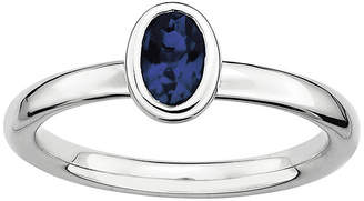 JCPenney FINE JEWELRY Personally Stackable Oval Lab-Created Blue Sapphire Ring