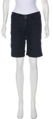 Fade to Blue Knee-Length Denim Shorts