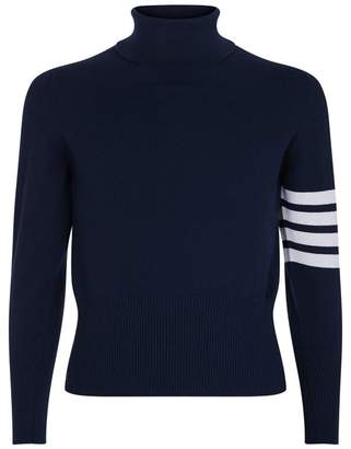 Thom Browne Classic Turtleneck Stripe Sweater