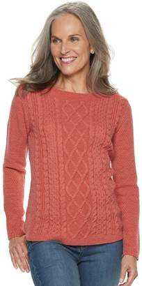 Croft & Barrow Women's Cable-Knit Boatneck Sweater