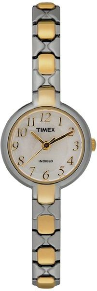 Timex® Two-Tone Round Case Watch