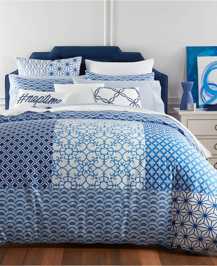 Damask Designs Patchwork 2-Pc. Twin Comforter Set, Created for Macy's Bedding