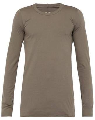Rick Owens Long Sleeved Cotton Jersey T Shirt - Mens - Grey
