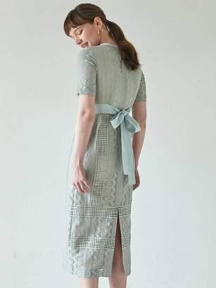 LAGUNAMOON (ラグナムーン) - ラグナムーン LADYジオメトリックレースドレス
