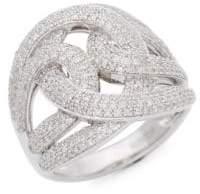 Effy 925 Sterling Silver Pavé Diamond Twist Ring