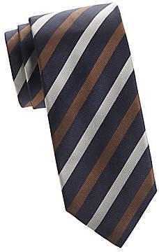 Isaia Men's Diagonal Stripe Tie