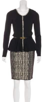 Carmen Marc Valvo Patterned Skirt Set
