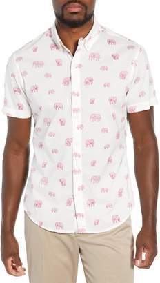 Bonobos Riviera Slim Fit Elephant Print Sport Shirt