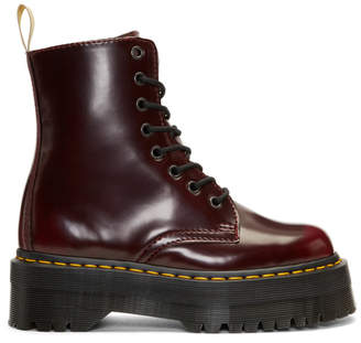 Dr. Martens Red Vegan Jadon II Platform Boots