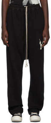 Rick Owens Black Drawstring Long Lounge Pants