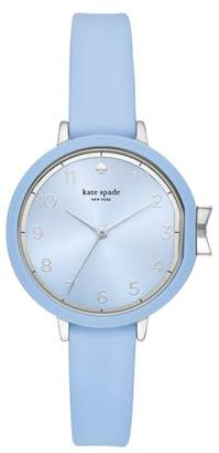 Kate Spade Park Row Silicone Strap Watch, 34mm