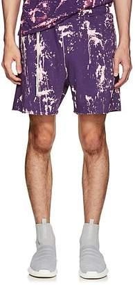 Siki Im Men's Bleach-Splattered Drawstring Shorts - Purple