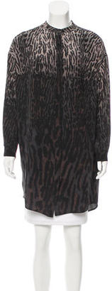 AllSaints Printed Silk Tunic $70 thestylecure.com