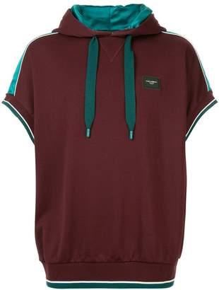 Dolce & Gabbana colour-block short sleeve hoodie