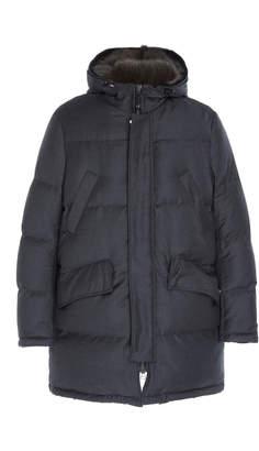 Yves Salomon Paris Doudoune Wool Mink Coat