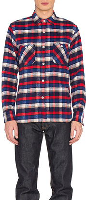 3sixteen Shaggy Workshirt in Red $198 thestylecure.com