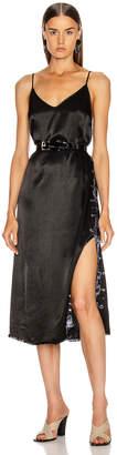 Raquel Allegra Little Slip Dress in Black Tie Dye | FWRD