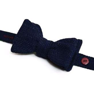 40 Colori - Blue Solid Wool Butterfly Bow Tie