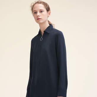 Maje Silk shirt with zip