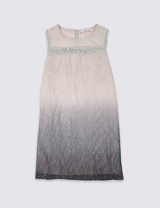 Marks and Spencer Plisse Multi Dress (3-16 Years)