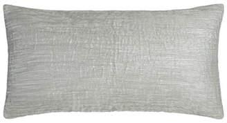 "Donna Karan Home Metallic-Print Pleated Pillow, 11"" x 22"""