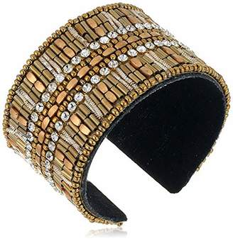 Panacea Women's Crystal Large Cuff Bracelet