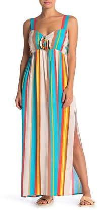 Wild Honey Stripe Center Tie Maxi Dress