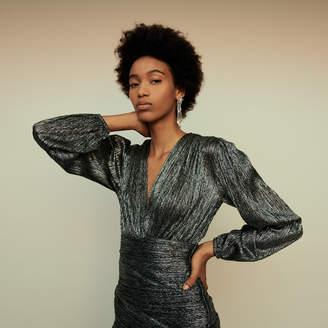 Maje Lurex draped dress