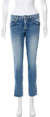 Amo Mid-Rise Straight-Leg Jeans