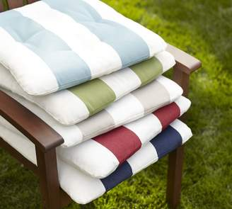 Pottery Barn Tufted Sunbrella®; Outdoor Dining Chair Cushion - Stripe