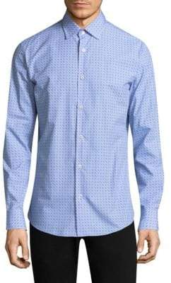 Salvatore Ferragamo Logo Cotton Button-Down Shirt