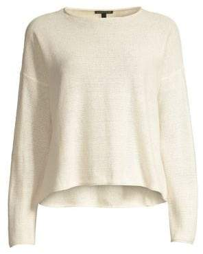 Eileen Fisher Reclaimed Hemp & Organic Cotton Blend Pullover