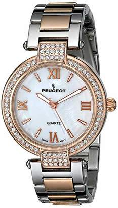 Peugeot Women's Quartz Gold and Stainless Steel Dress Watch