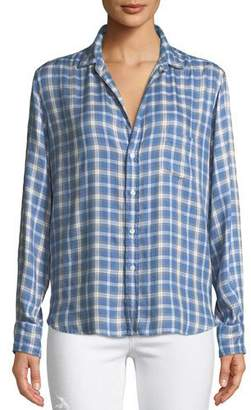 Frank And Eileen Eileen Long-Sleeve Button-Front Check-Print Modal Shirt