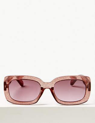 Marks and Spencer Roma Glitter Slim Rectangle Sunglasses