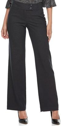 Apt. 9 Women's Modern Fit Midrise Wide-Leg Dress Pants