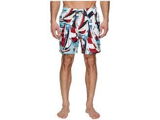 Nautica All Over Sailboat Print Swim Trunk Men's Swimwear